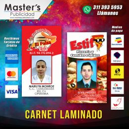 Carnet laminado en full resolución